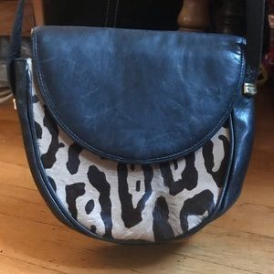 Leather and Ocelot Vintage Neiman Marcus Bag!